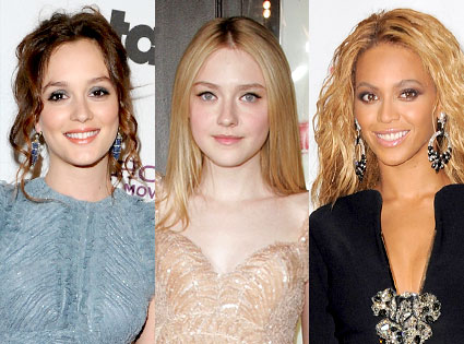 Leighton Meester, Dakota Fanning, Beyonce