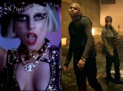 Lady Gaga, Justin Bieber, Chris Brown