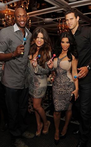Kim Kardashian, Kris Humphries,  Khloe Kardashian Odom, Lamar Odom