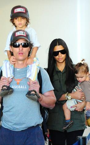 Matthew McConaughey, Camila Alves, Levi cConaughey, Vida cConaughey