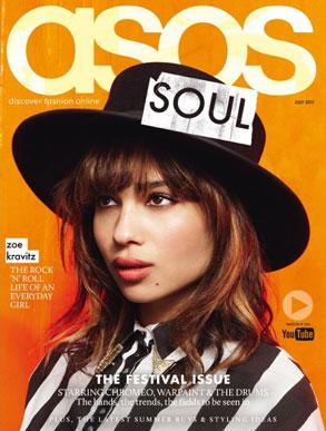 Zoe Kravitz, ASOS Cover