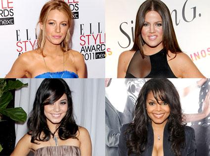Janet Jackson, Khloe Kardashian Odom, Vanessa Hudgens, Janet Jackson