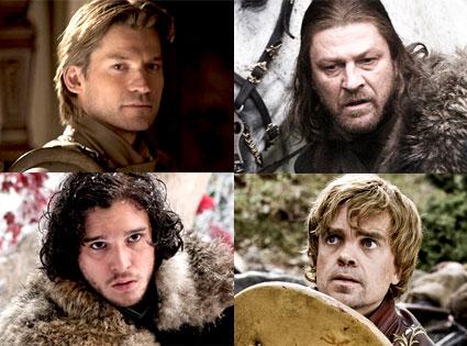 Nikolaj Coster-Waldau, Sean Bean, Kit Harington, Peter Dinklage, Game Of Thrones