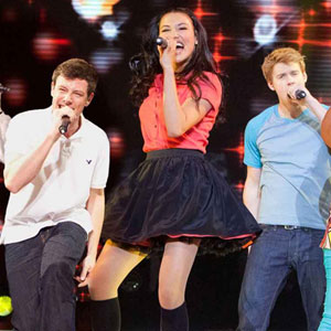 Glee, Movie, 3D Corey Monteith, Naya Rivera, Chord Overstreet