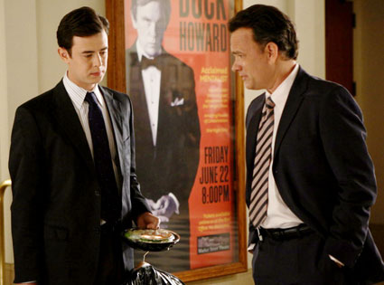 Tom Hanks and son Colin Hanks from their 2008 movie The Great Buck Howard