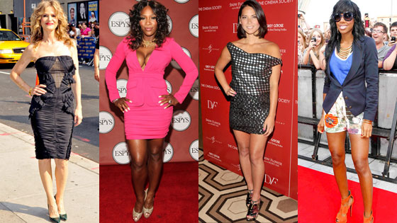 Kyra Sedgwick, Serena Williams, Olivia Munn, Kelly Rowland