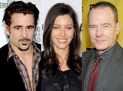 Colin Farrell, Jessica Biel, Bryan Cranston