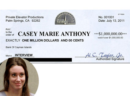 Casey Anthony, Check