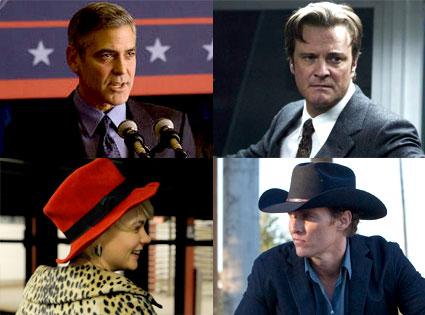 George Clooney, Ides of March, Colin Firth, Tinker, Tailor, Soldier, Spy, Carey Mulligan, Shame, Matthew McConaughey, Killer Joe