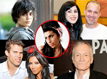 Vanessa Hudgens, Kat Von D, Jesse James, Kim Kardashian, Kris Humphries, Hugh Hefner, Amy Winehouse