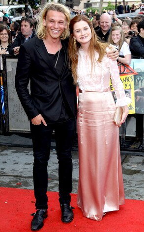 Jamie Campbell Bower & Bonnie Wright from Harry Potter ...