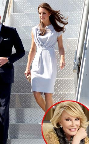 Kate Middleton, Duchess Catherine, Joan Rivers