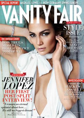 **Jennifer Lopez, Vanity Fair Cover