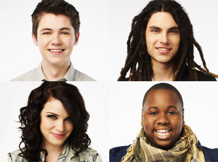 The Glee Project, Alex, Damian, Lindsay, Samuel