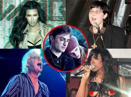 Kim Kardashian, Sinead O Connor, Jani Lane, Kelly Rowland, Emma Watson, Daniel Radcliffe, Deathly Hallows