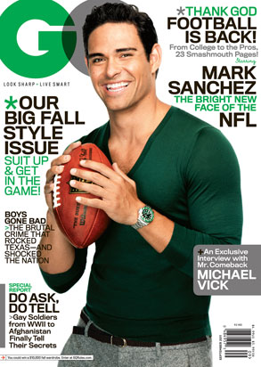 Mark Sanchez, GQ Cover