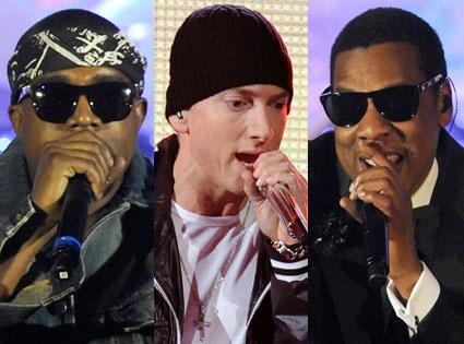 Eminem, Kanye West, Jay Z