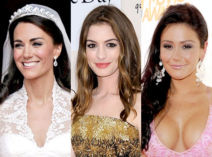 Kate Middleton, Anne Hathaway, Jwoww