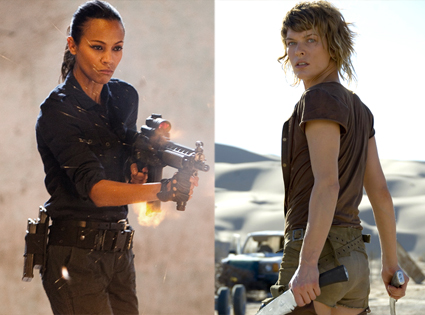 Zoe Saldana, Colombiana, Mila Jovovich, Resident Evil