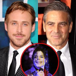 Ryan Gosling, George Clooney, Michael Jackson