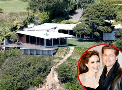Brad Pitt, Angelina Jolie, Malibu Home