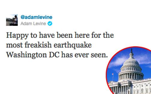 Adam Levine Twitter, Capitol Building