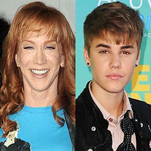 Kathy Griffin, Justin Bieber