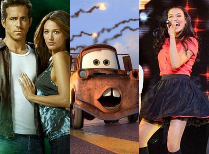 Glee 3-D, Green Lantern, Cars 2