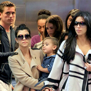 Kim Kardashian, Kourtney Kardashian, Scott Disick, Mason Disick