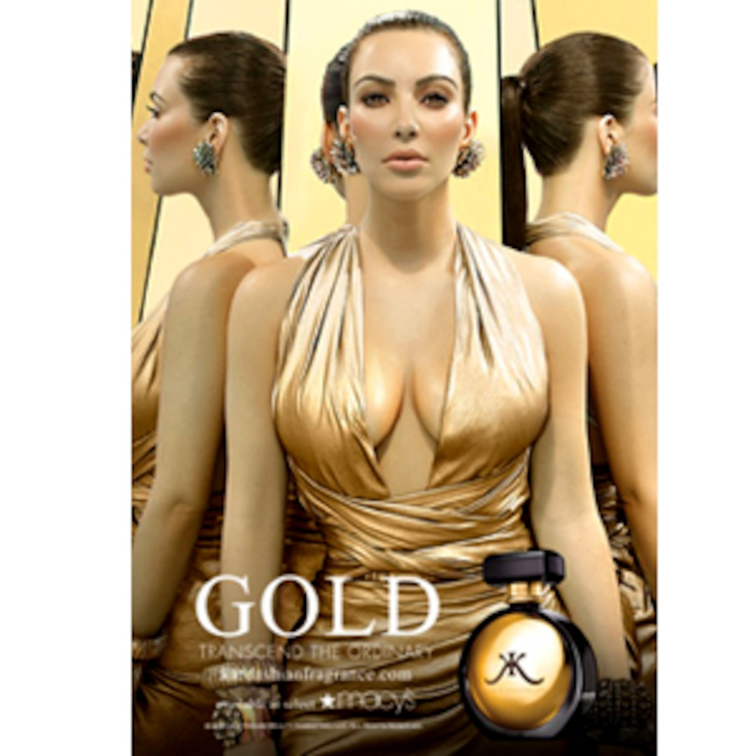 Kim Kardashian Goes for the Gold in Her Latest Fragrance Ad - E! Online