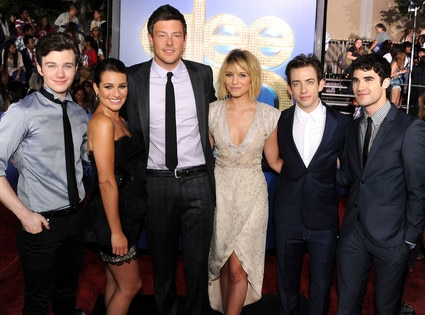 Glee Premiere, Chris Colfer, Lea Michele, Cory Monteith, Kevin McHale, Darren Criss