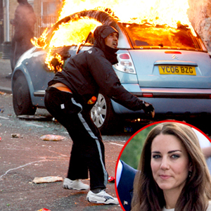 London Riots, Kate Middleton