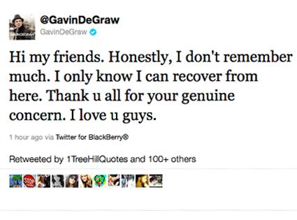Gavin DeGraw, Twitter