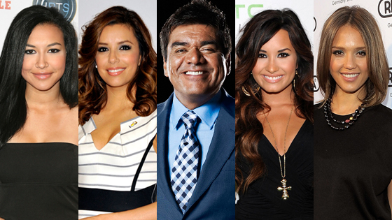 Demi Lovato,  Eva Longoria,  George Lopez,  Jessica Alba,  Naya Rivera