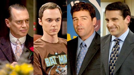 Steve Buscemi, Boardwalk Empire, Jim Parsons, Big Bang Theory, Kyle Chandler, Friday Night Lights, Steve Carell, The Office