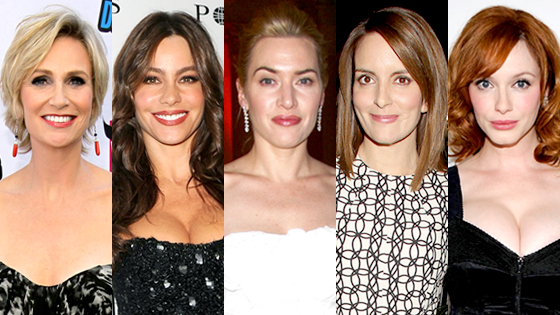 Jane Lynch, Sofia Vergara, Kate Winslet, Tina Fey, Christina Hendricks