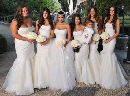 Bridal Beauties From Kim Kardashian S Wedding Album E News