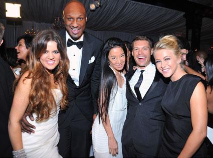 Khloe Kardashian, Lamar Odom, Vera Wang, Ryan Seacrest, Julianne Hough, Kardashian Wedding