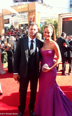 Brooke Burke, WhoSay, Emmys Twitter Pictures
