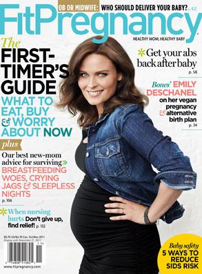 Emily Deschanel, Fit Pregnancy Cover
