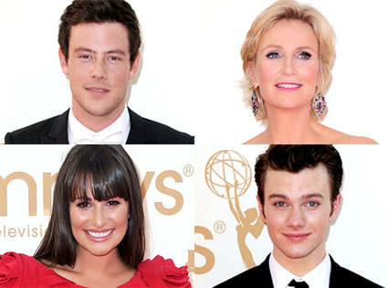 Cory Monteith, Jane Lynch, Lea Michele, Chris Colfer