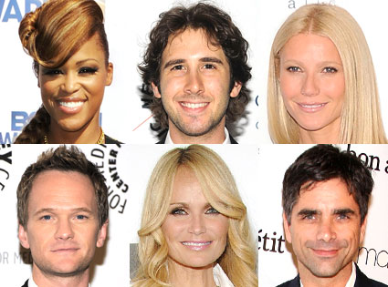 Gwyneth Paltrow, Kristin Chenoweth, Josh Groban, Neil Patrick Harris, John Stamos, Eve