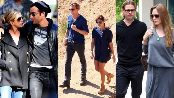 Jennifer Aniston, Justin Theorux, Ryan Gosling, Eva Mendes, Brad Pitt, Angelina Jolie