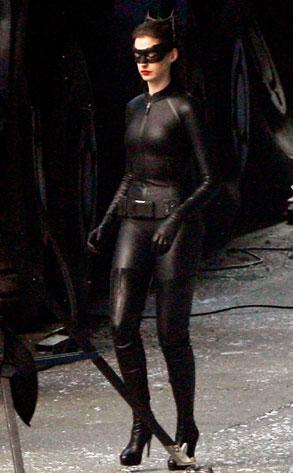 Anne Hathaway, Dark Knight Rises Set
