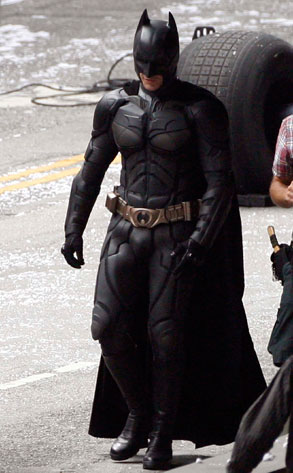 Christian Bale, Dark Knight Rises Set