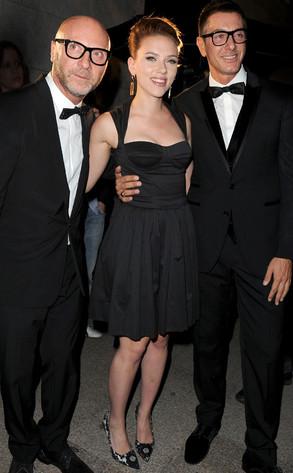 Domenico Dolce, Scarlett Johansson, Stefano Gabbana