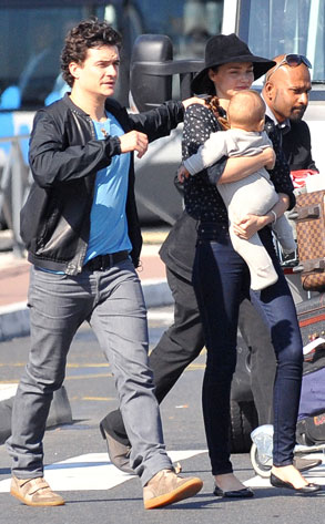 Orlando Bloom, Miranda Kerr, Flynn Bloom
