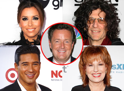 Joy Behar, Mario Lopez, Eva Longoria, and Howard Stern, Piers Morgan