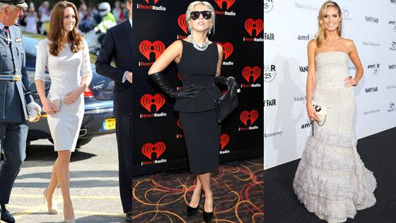 Kate Middleton, Duchess Catherine, Lady Gaga, Heidi Klum