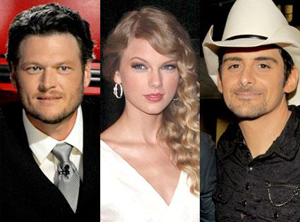 Blake Shelton, Taylor Swift, Brad Paisley